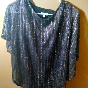Sapphire Sequin Oversized Top Size M